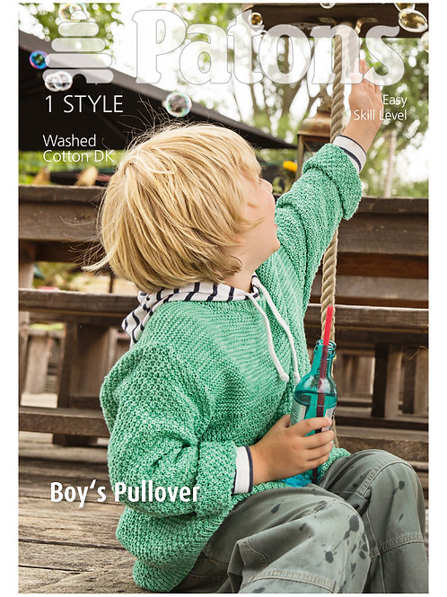 Patons Pattern: Boy's Pullover - 4072