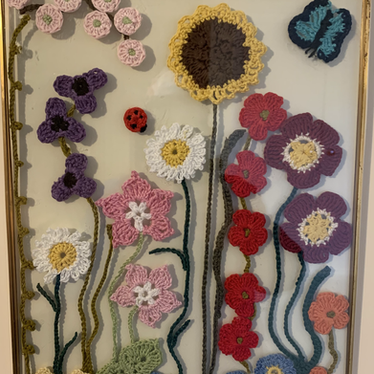 Crocheted Flowers by Margaret