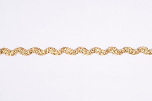 Ribbon Ric Rac - Gold 8mm