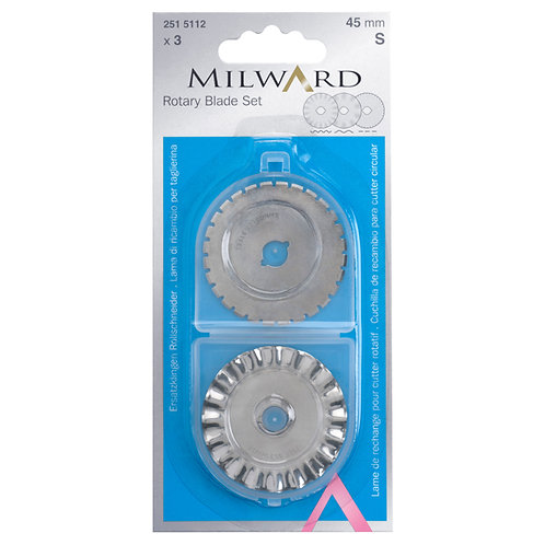 Rotary Blade Assortment: 45mm Diameter: 3 Pieces