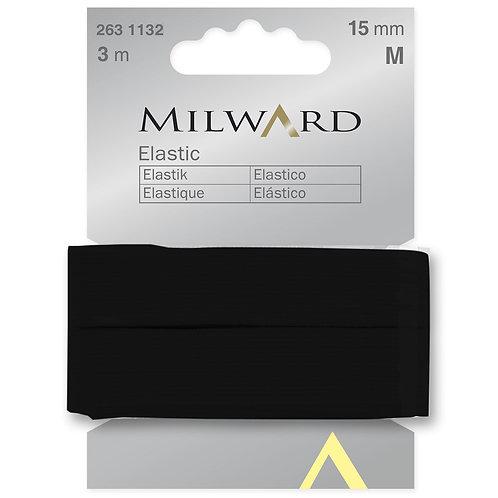 Elastic: Black - 15mm x 3m