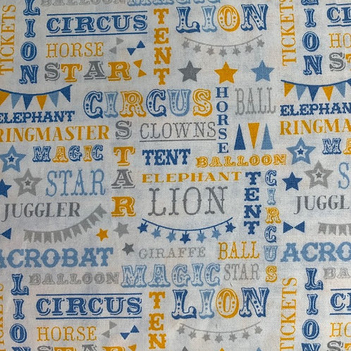 Carnival Circus Words - Blue