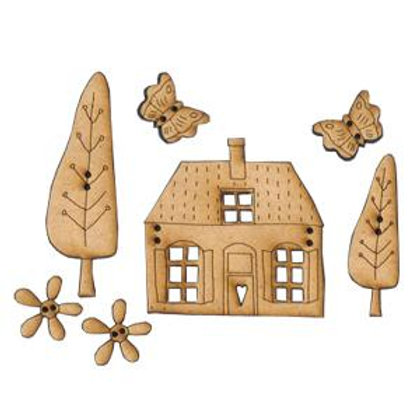 My Country House Button Pack