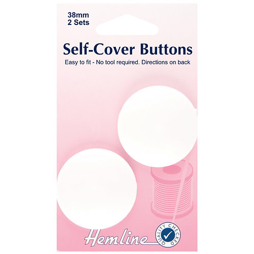 Buttons Self-Cover - 38mm