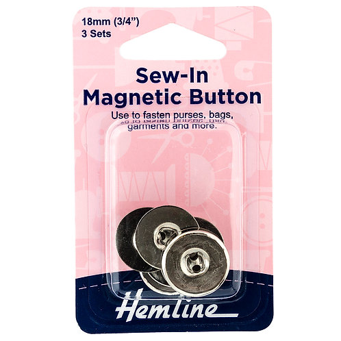 Button: Magnetic: Sew-In