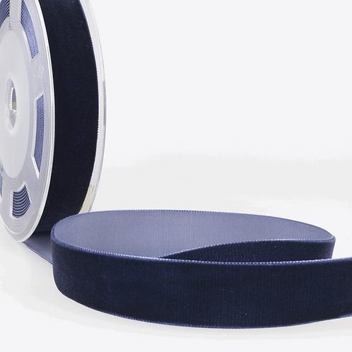 Ribbon: Velvet: Navy blue