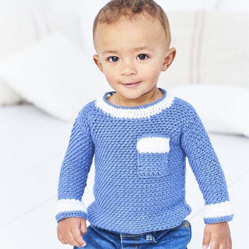 Bambino DK Pattern - Crochet Woven Sweater and Tunic