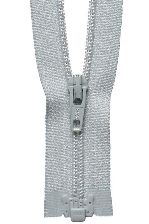 Zip - Light Weight Open Ended 25cm (Light Grey)