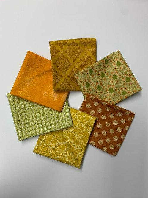 Yellows, Oranges & Greens - Fat 1/4 Bundle