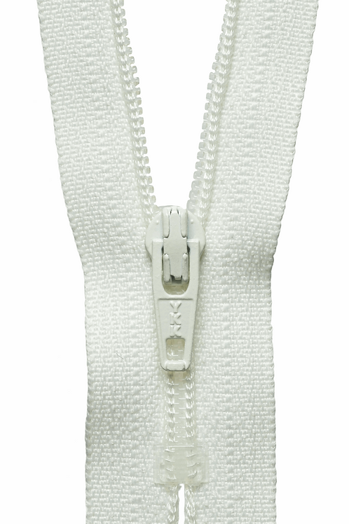 Concealed Zip: 23cm: Cream