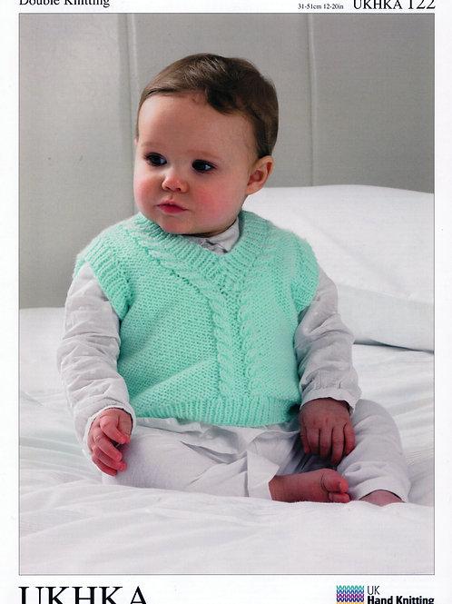 Pattern: Slipovers, Cardigan and Waistcoat - 122