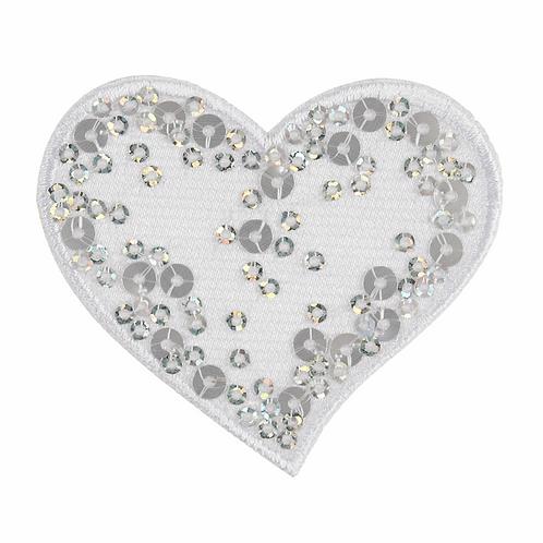 Motif C: Sequin: White Heart
