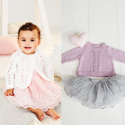 Bambino DK Pattern - A-line Sweater and Cardigan