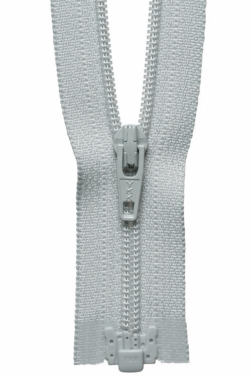 Zip - Light Weight Open Ended 41cm (Light Grey)