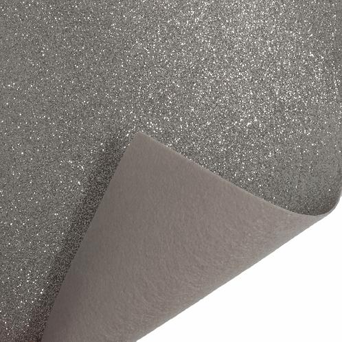 Felt Glitter Sheet - Silver