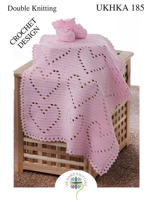 Booties and Blanket: Crochet Design - 185