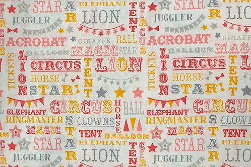 Carnival Circus Words - Coral