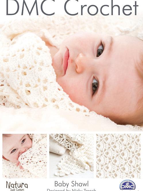 DMC Crochet Pattern: Baby Shawl