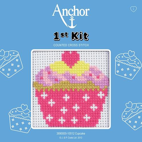 Cross Stitch Kit: 1st Kit: Cupcake