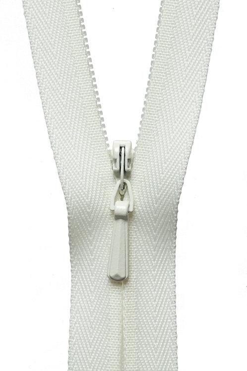 Concealed Zip: 41cm: Cream