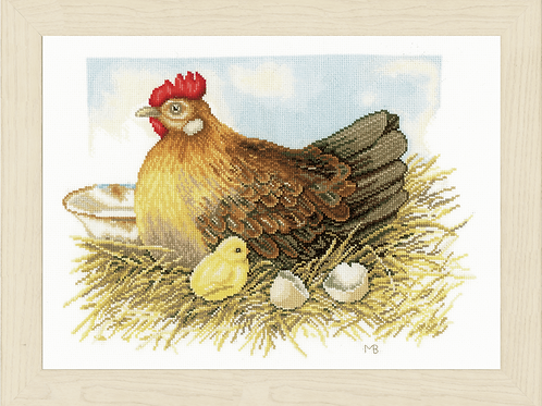 Counted Cross Stitch Kit: Mother Hen
