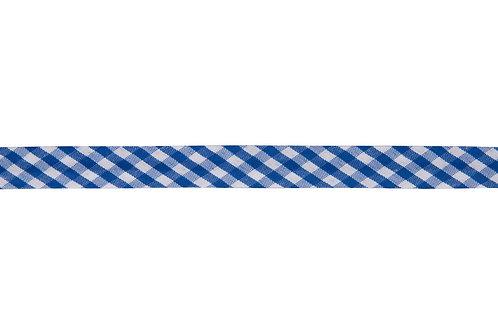 Bias Binding - 15mm Blue Gingham