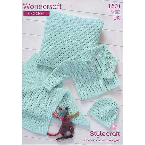 Pattern- Crochet Cardigan, Hat, Blanket & Cushion