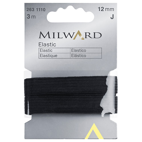 Elastic Black - 12mm x 3m