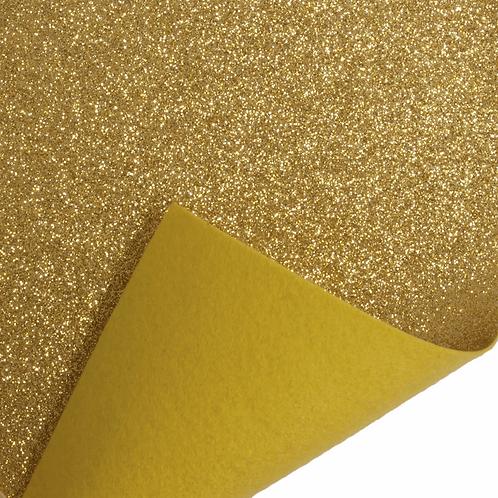 Felt Glitter Sheet - Gold