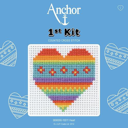 Cross Stitch - Anchor 1st Kit - Heart