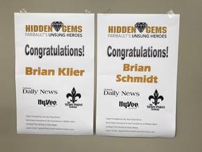 Brian Schmidt and Brian Klier Honored as Hidden Gems