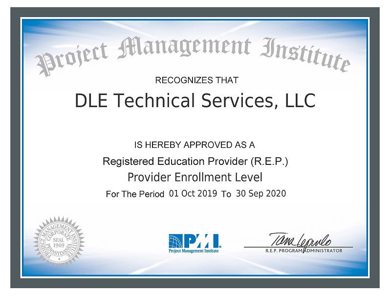 PMI REP-4126 Certificate for 2019-2020.j