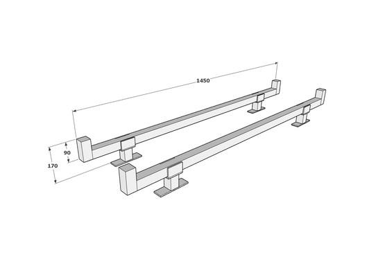 2 bar rack