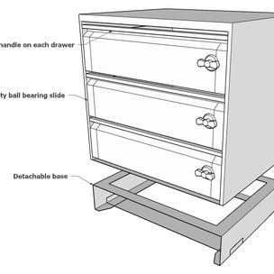 3 drawer set