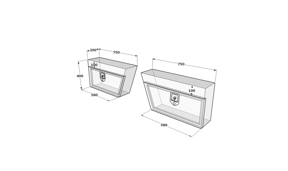 Under tray toolboxes