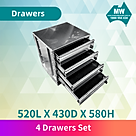 4 drawer set