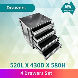 4 drawer set