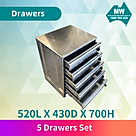 5 drawer set