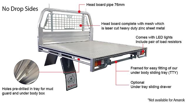 deck with headboard