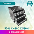 3 drawer set