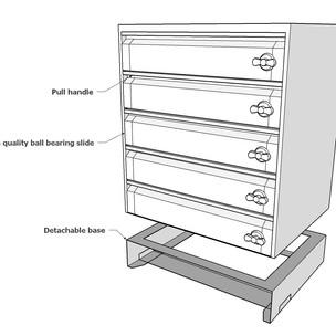 5 drawer set