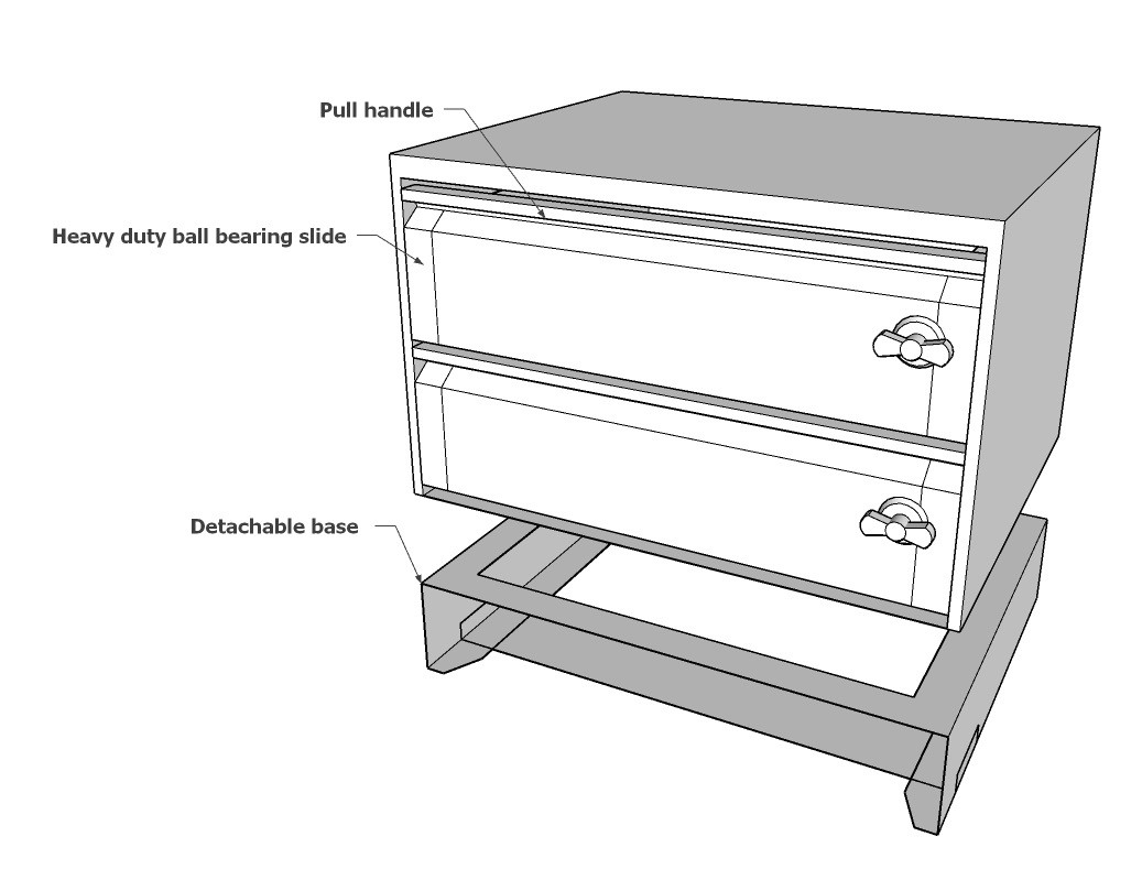 2 drawer set