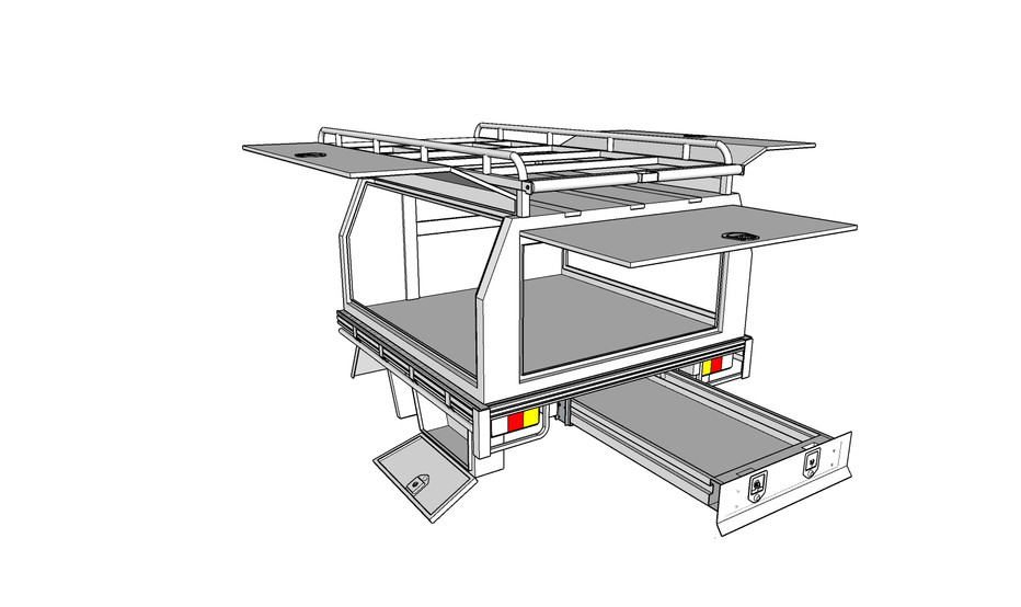 Tray deck & canopy package