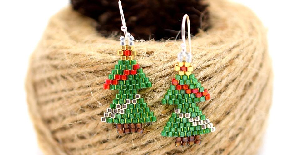 Garlands Christmas Tree Earrings