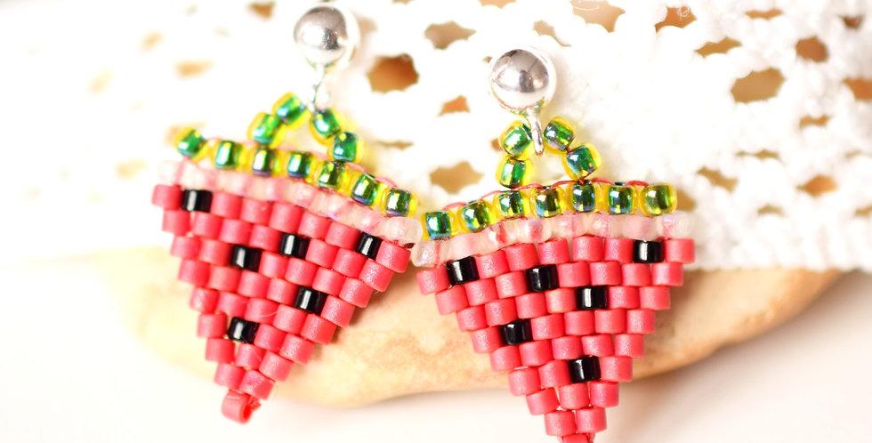 Mini Watermelon Delight Earrings (matte)