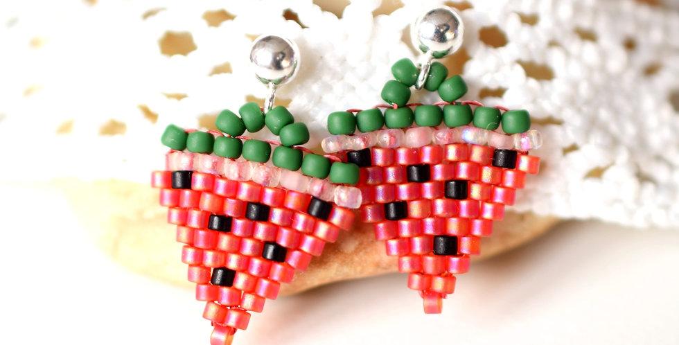 Mini Watermelon Delight Stud Earrings