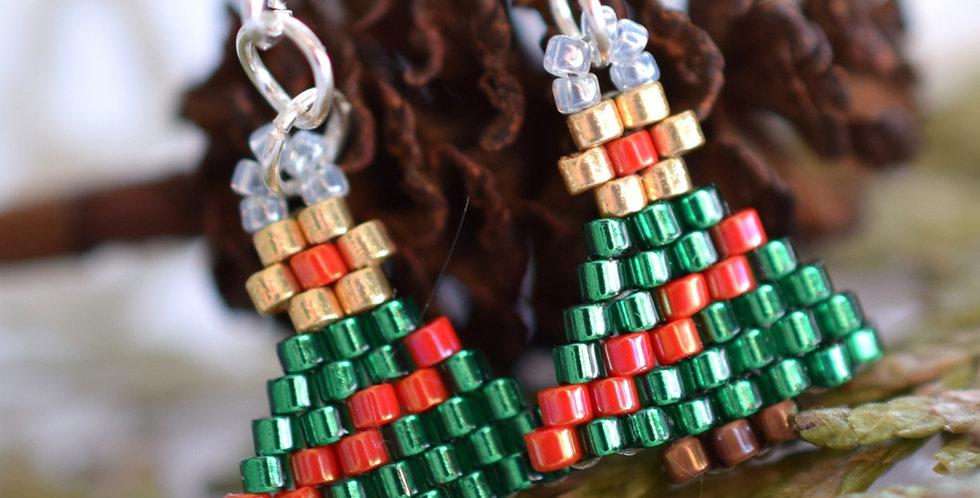 Make Your Own Christmas Stud Earrings