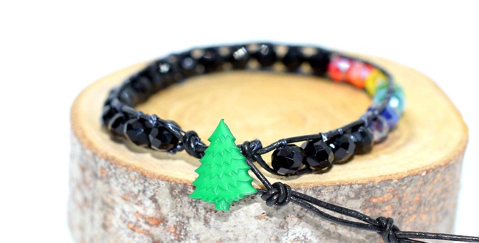 Christmas Tree Chakra Wrap Bracelet