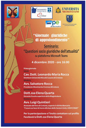 Seminario - Questioni Socio Giuridiche dell'attualità