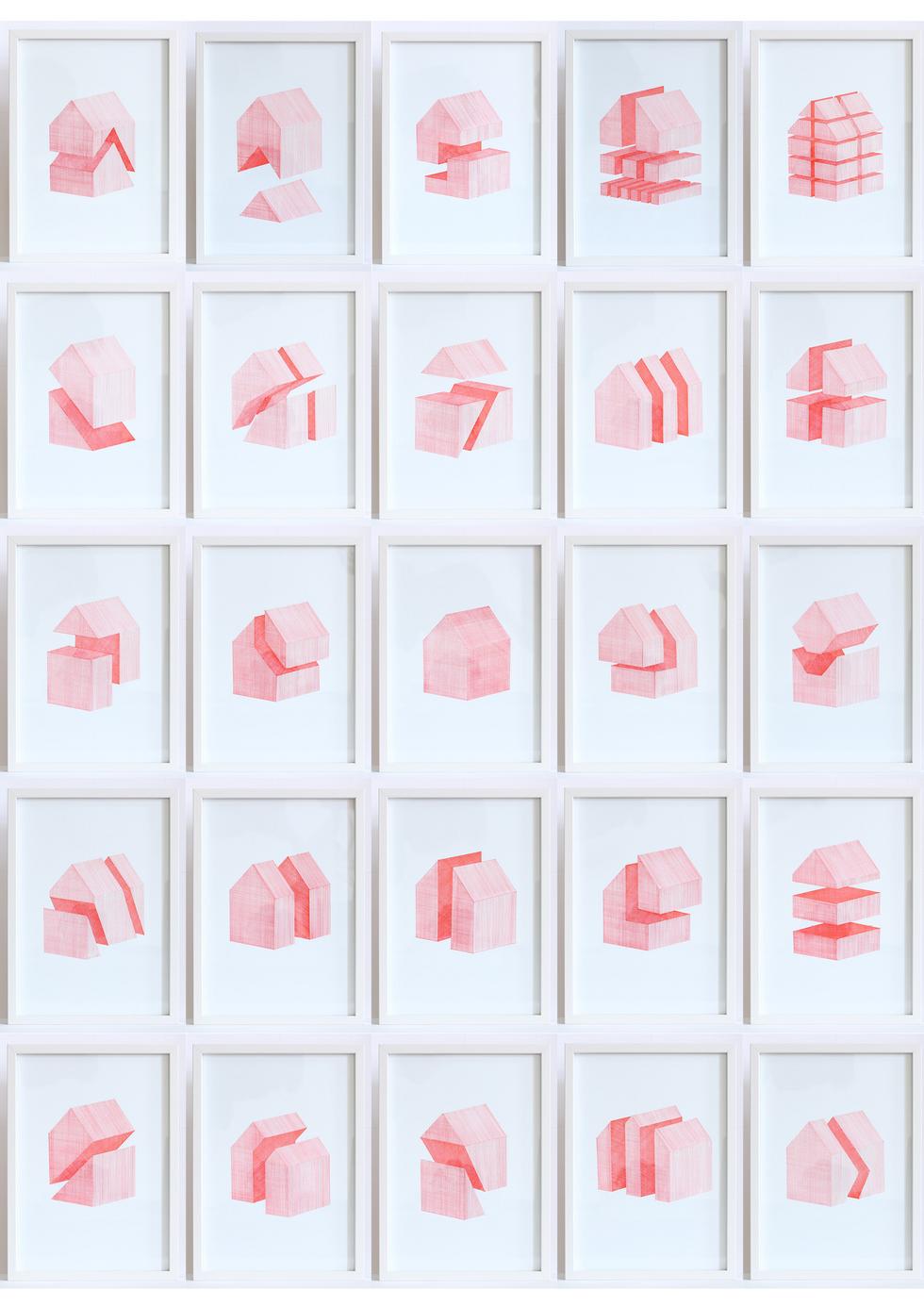 [충무로갤러리]고동환_House of Red Lines,  Each 21